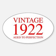 VINTAGE 1922 aged to perfection-red 300 Decal