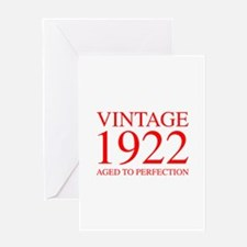 VINTAGE 1922 aged to perfection-red 300 Greeting C