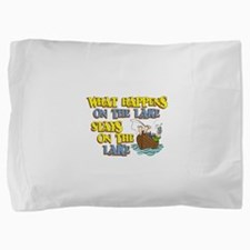 stays on lake.png Pillow Sham