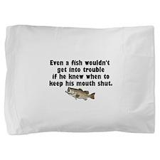 Dumb Fish Pillow Sham