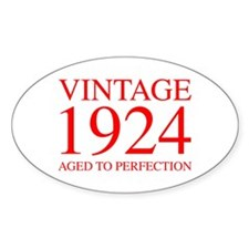 VINTAGE 1924 aged to perfection-red 300 Decal