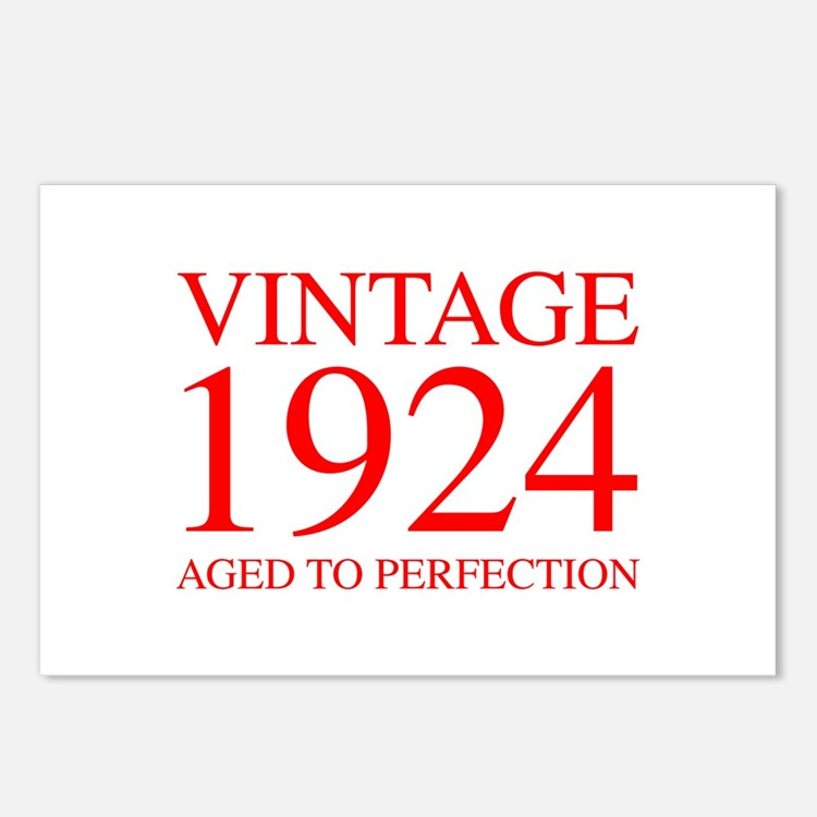VINTAGE 1924 aged to perfection-red 300 Postcards