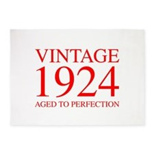 VINTAGE 1924 aged to perfection-red 300 5'x7'Area