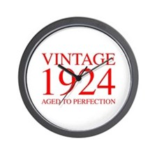 VINTAGE 1924 aged to perfection-red 300 Wall Clock