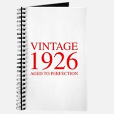 VINTAGE 1926 aged to perfection-red 300 Journal