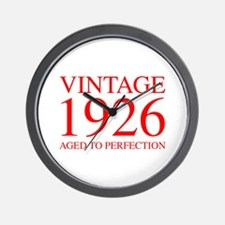 VINTAGE 1926 aged to perfection-red 300 Wall Clock