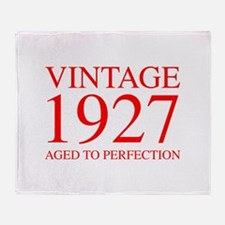 VINTAGE 1927 aged to perfection-red 300 Throw Blan