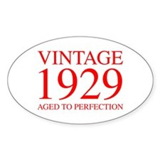 VINTAGE 1929 aged to perfection-red 300 Decal