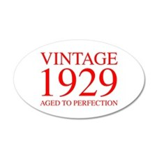 VINTAGE 1929 aged to perfection-red 300 Wall Decal