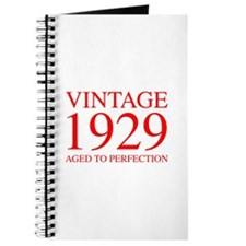 VINTAGE 1929 aged to perfection-red 300 Journal