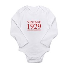 VINTAGE 1929 aged to perfection-red 300 Body Suit