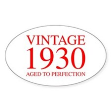 VINTAGE 1930 aged to perfection-red 300 Decal