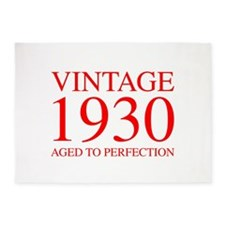 VINTAGE 1930 aged to perfection-red 300 5'x7'Area