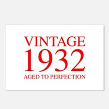 VINTAGE 1932 aged to perfection-red 300 Postcards