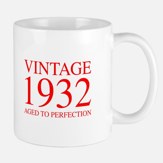 VINTAGE 1932 aged to perfection-red 300 Mugs