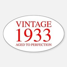 VINTAGE 1933 aged to perfection-red 300 Decal