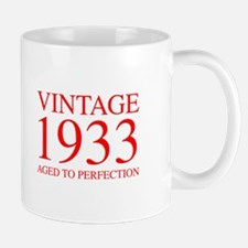 VINTAGE 1933 aged to perfection-red 300 Mugs
