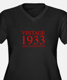 VINTAGE 1933 aged to perfection-red 300 Plus Size