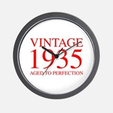 VINTAGE 1935 aged to perfection-red 300 Wall Clock