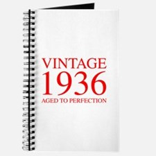 VINTAGE 1936 aged to perfection-red 300 Journal