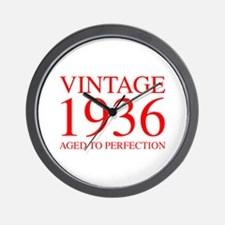 VINTAGE 1936 aged to perfection-red 300 Wall Clock