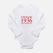 VINTAGE 1936 aged to perfection-red 300 Body Suit