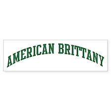American Brittany (green) Bumper Bumper Sticker