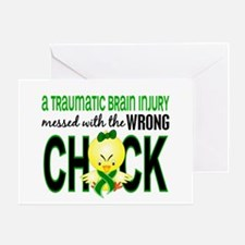 TBI MessedWithWrongChick1 Greeting Card