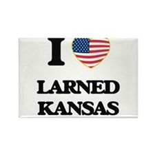 I love Larned Kansas Magnets