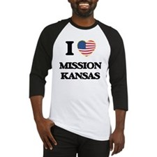 I love Mission Kansas Baseball Jersey