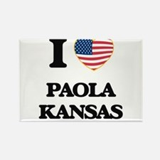 I love Paola Kansas Magnets