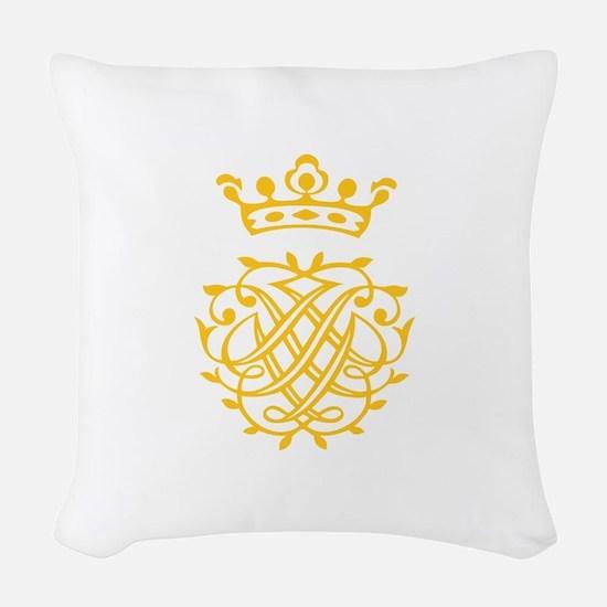 JS Bach Symbol Woven Throw Pillow