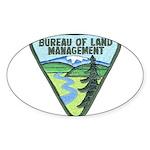 B.L.M. Oval Sticker
