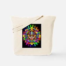Aztec Warrior Mask Rainbow Colors Tote Bag