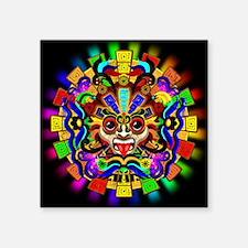 Aztec Warrior Mask Rainbow Colors Sticker