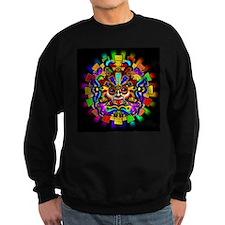 Aztec Warrior Mask Rainbow Colors Sweatshirt