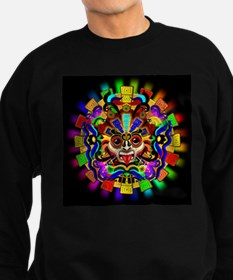 Aztec Warrior Mask Rainbow Colors Sweatshirt