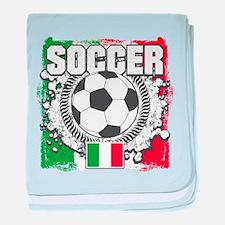 Soccer Italy baby blanket