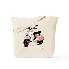 Vespa Italia flag Tote Bag