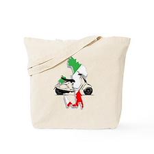 italy flag vespa Tote Bag