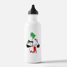 italy flag vespa Water Bottle