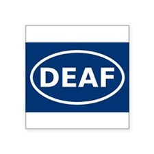 "Cute Deaf Square Sticker 3"" x 3"""