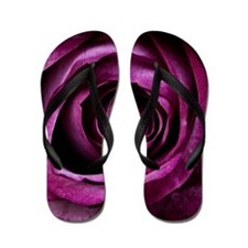 Purple Rose Flip Flops