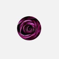 Purple Rose Mini Button