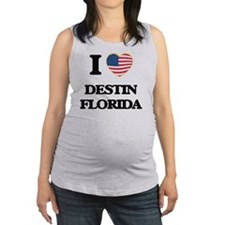 I love Destin Florida Maternity Tank Top