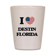 I love Destin Florida Shot Glass