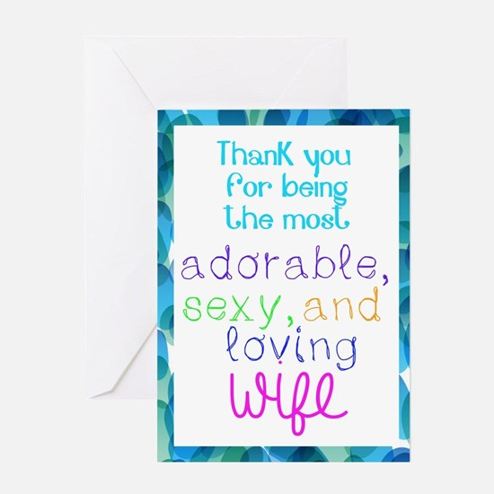 Thank You To Wife From Both Card - Greeting Cards