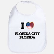 I love Florida City Florida Bib