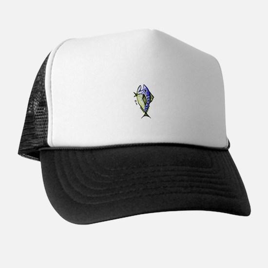 Tuna Abstract 2 rot Trucker Hat