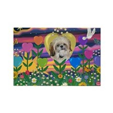 Heart Garden #2 & Shih Tzu Rectangle Magnet